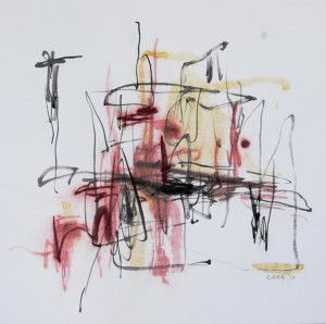 150105-Cara Yuan, Sound of Lines 1, Chinese ink and paint on Chinese mulberry paper-carayuan