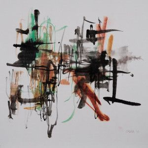 150106-Cara Yuan, Sound of Lines 3, Chinese ink and paint on Chinese mulberry paper-carayuan
